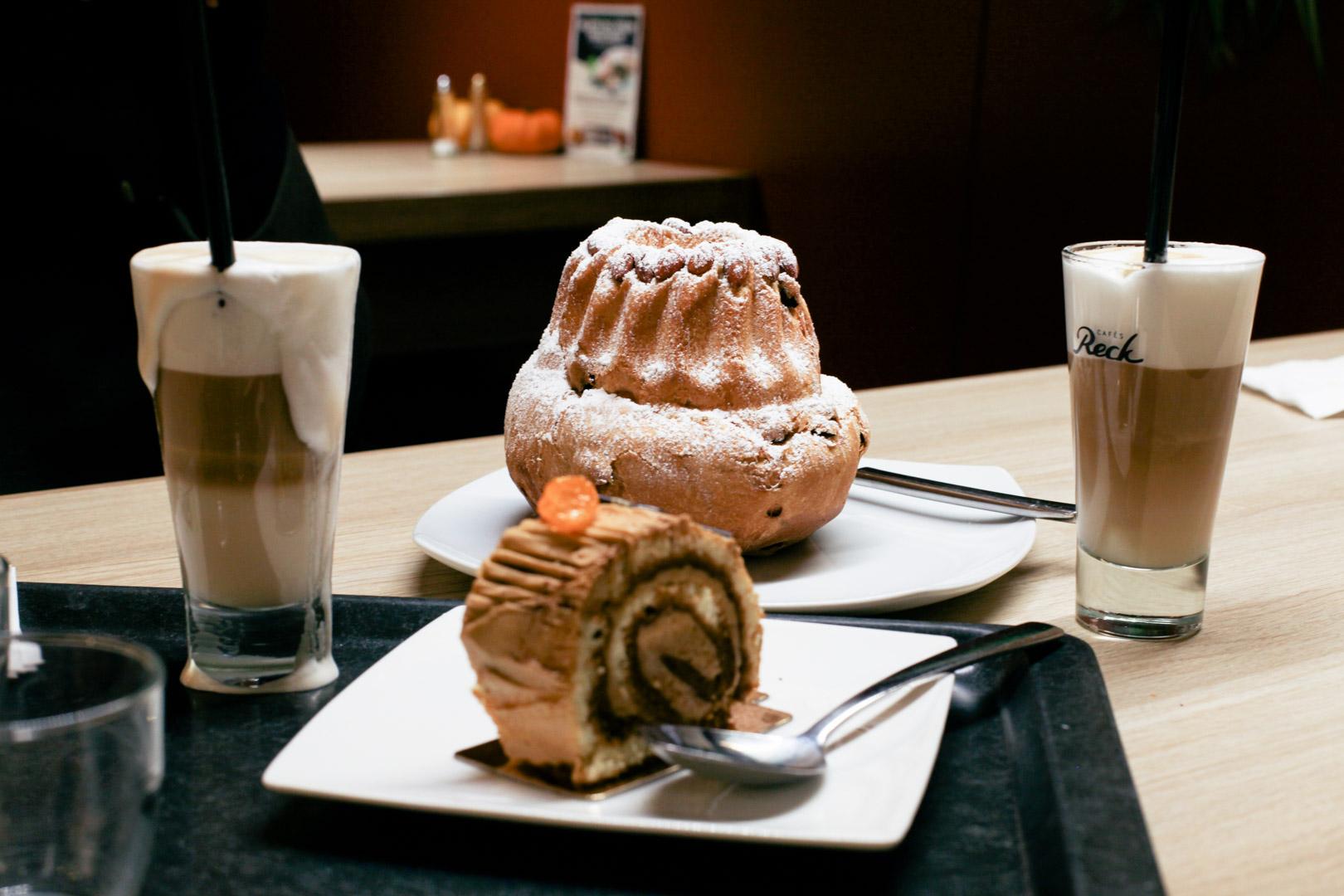 Guglhupf ring cake, a staple bakery here, like a upside-down muffin