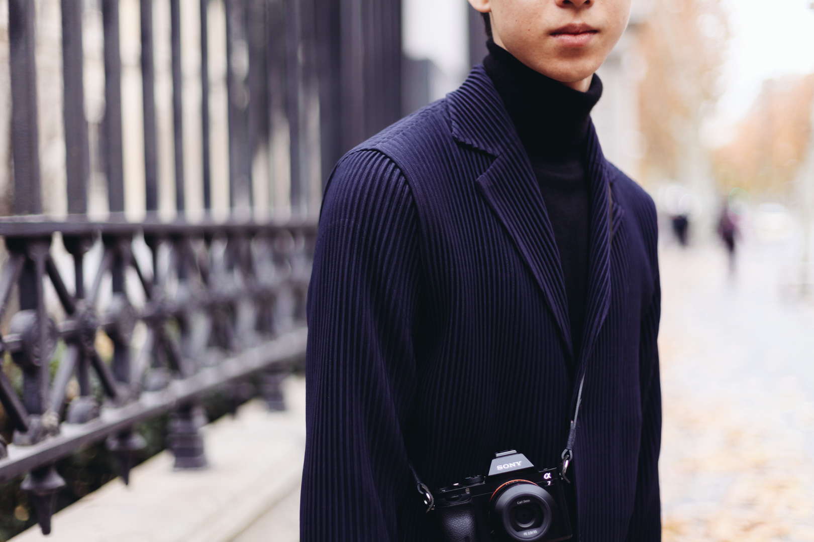 In this picture: Pleated Jacket by Issey Miyaki