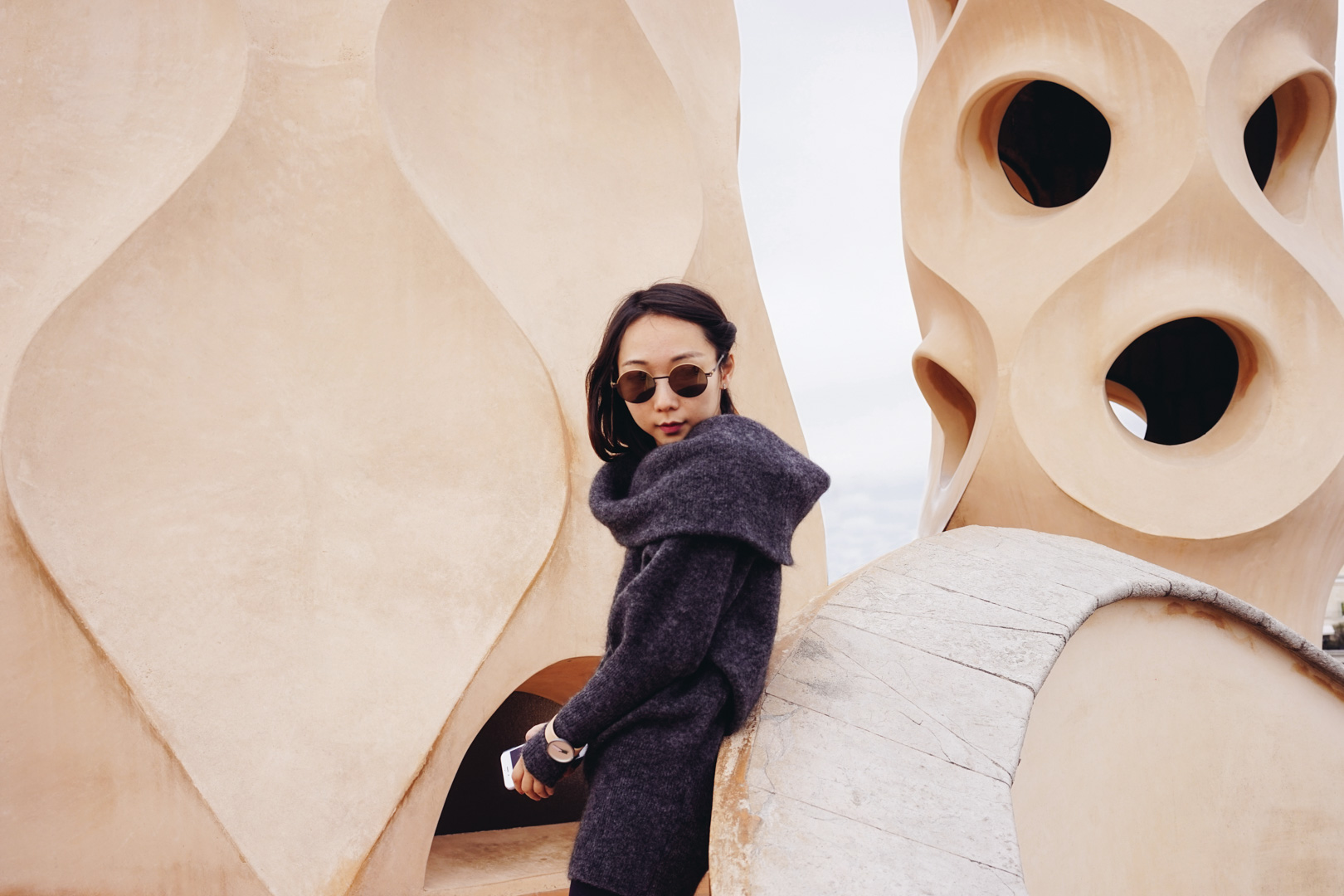 In this picture: Sweater by   Acne Studios  , Sunnies by  Mytika ; Watch by    Nomad