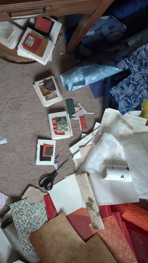 Card making mess, Jenny Dowd