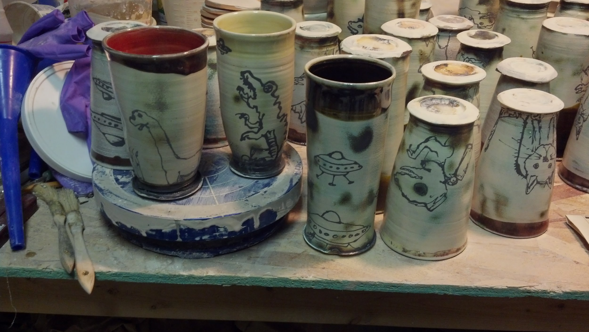 Adding drawings after the Soda Firing