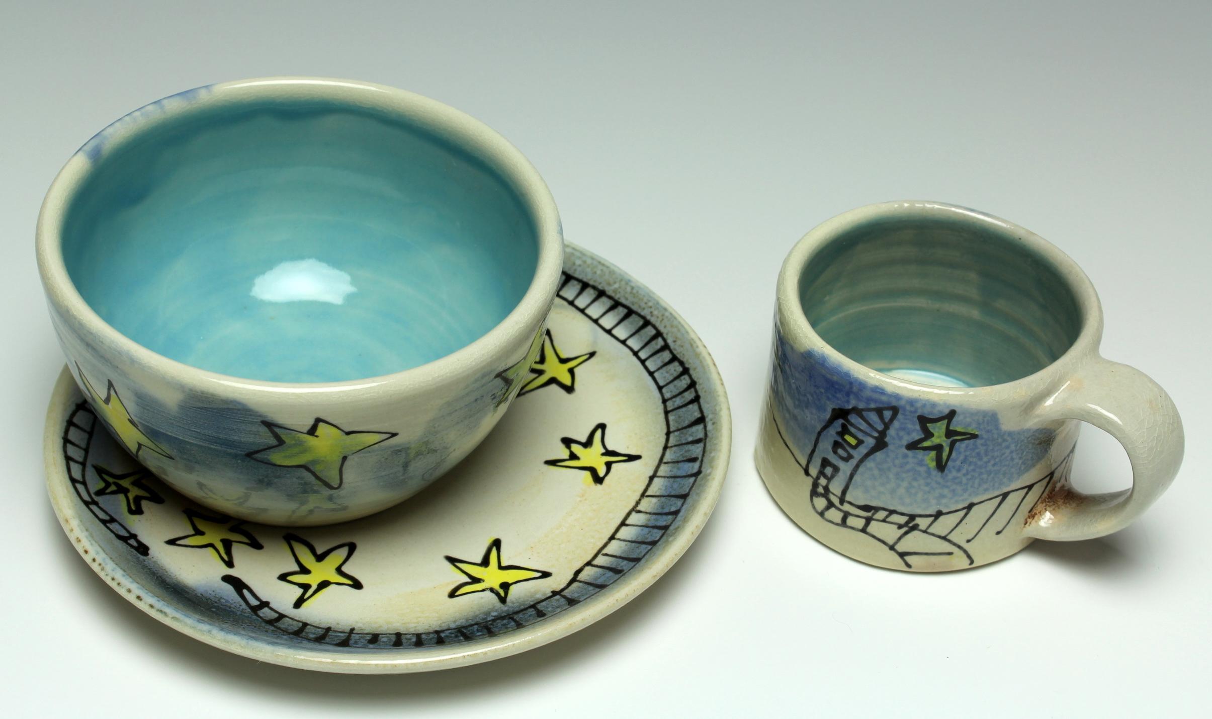 Child's Starry Dish Set