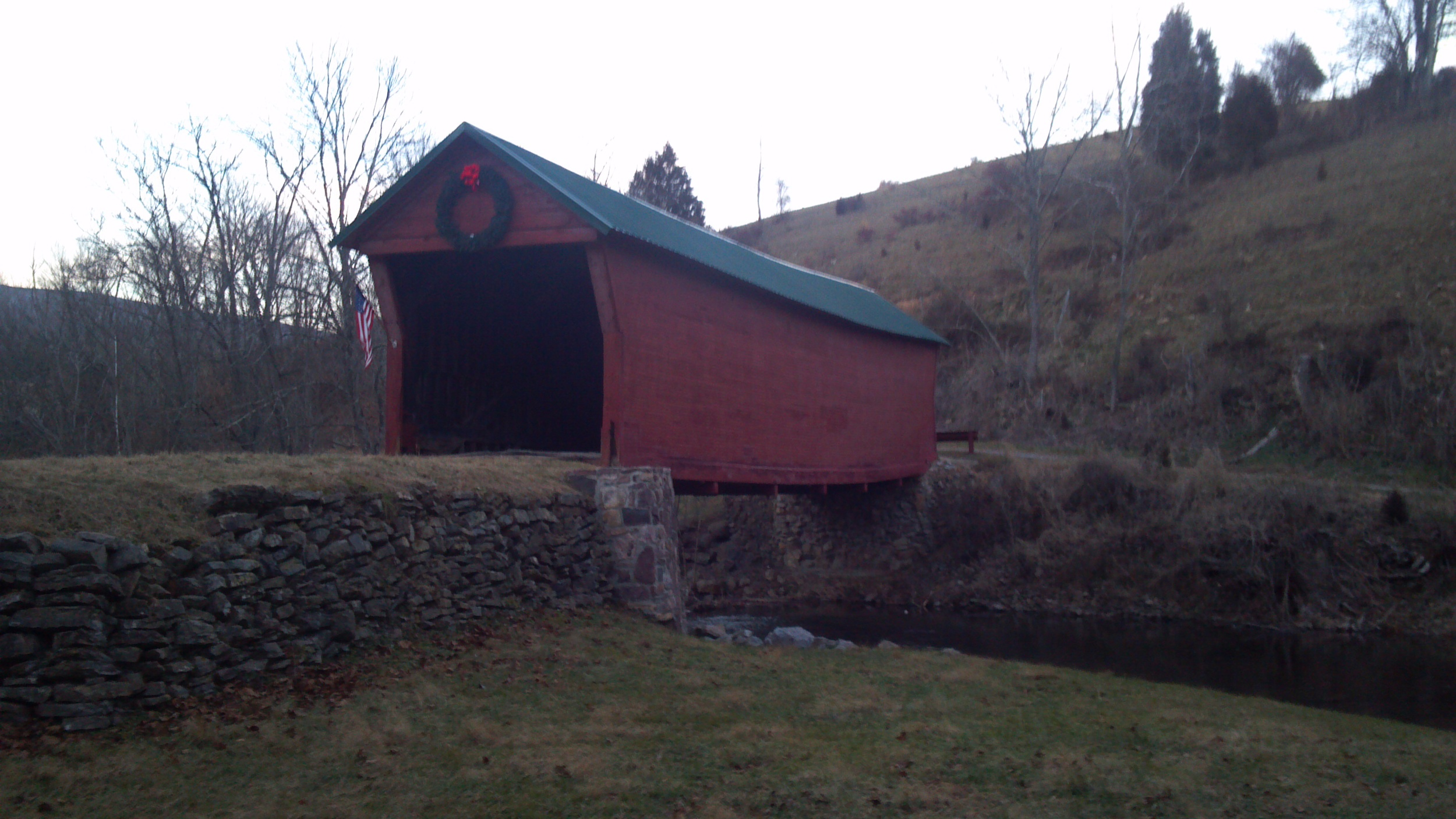 Sinking Creek Covered Bridge in Giles County, Virginia