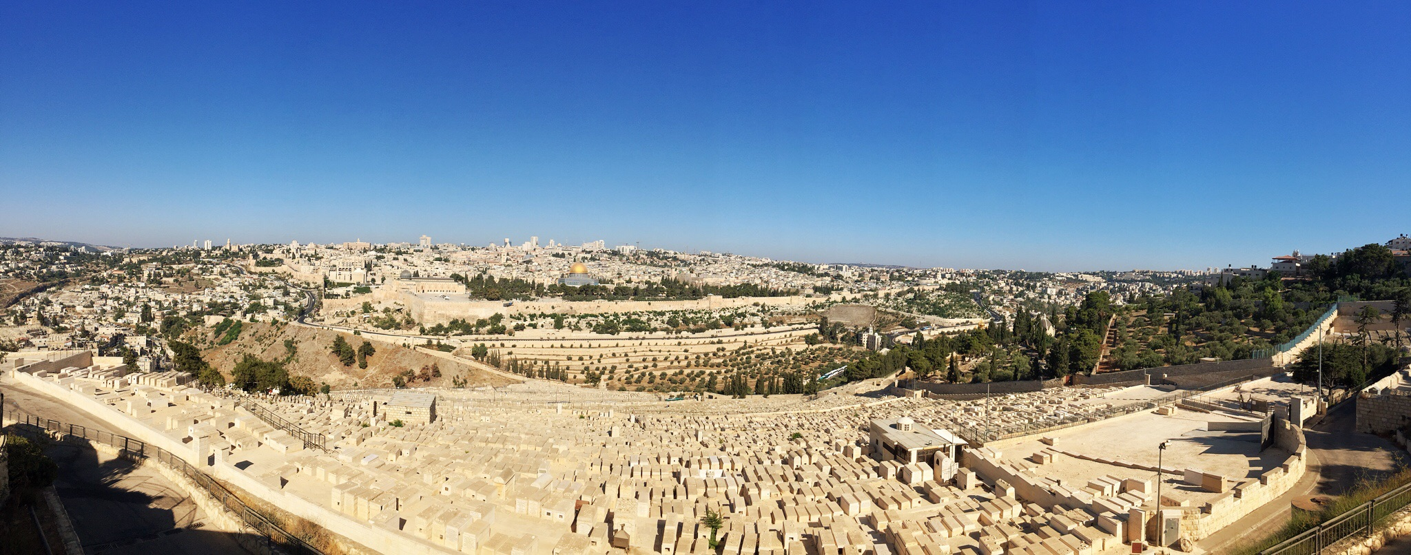 The sun rises on Jerusalem from the Mount of Olives.