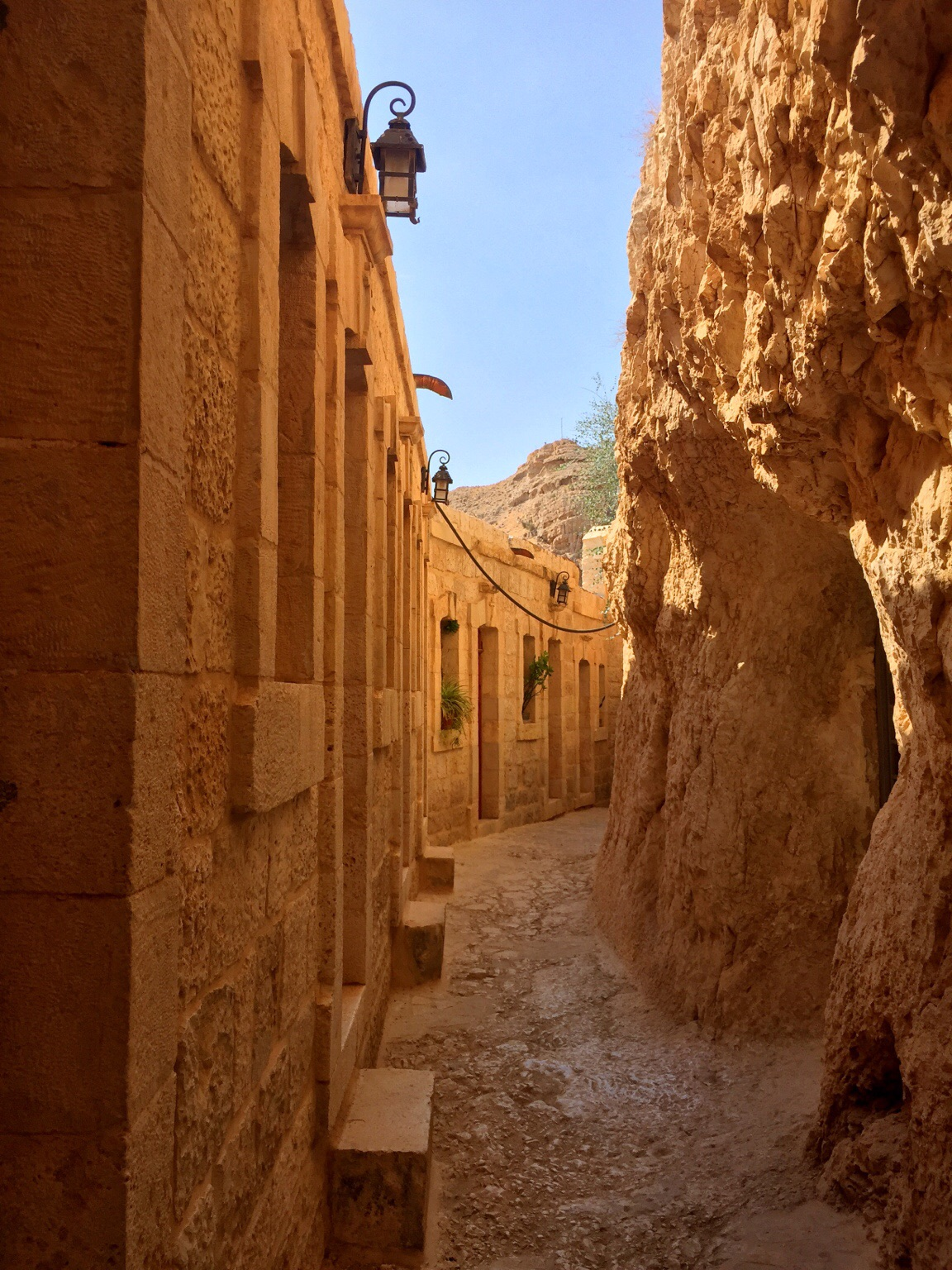 Narrow passages.