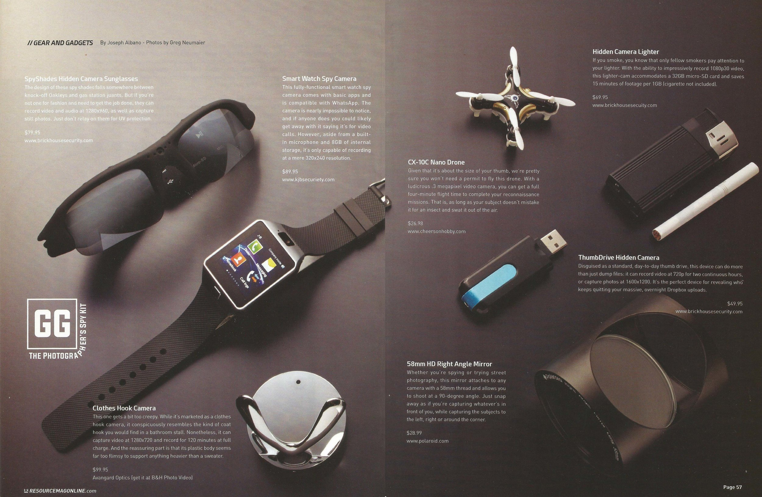 Gear and Gadgets  by Joseph Albano,  Resource Magazine Spring 2015