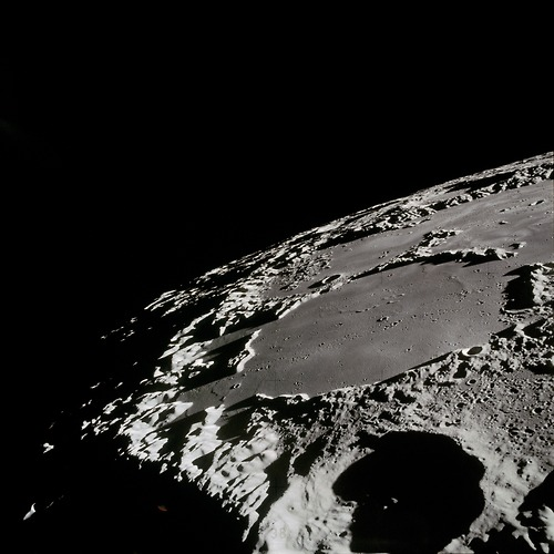 THERE IS NO ATMOSPHERE ON THE MOON, THUS METEORS IMPACT THE MOONS SURFACE CREATING LARGER CRATERS