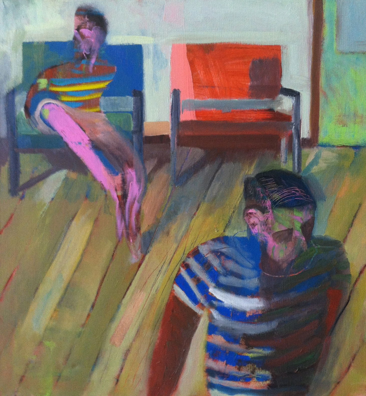 The room, acrylic and oil on canvas, 30x32 inches, 2014