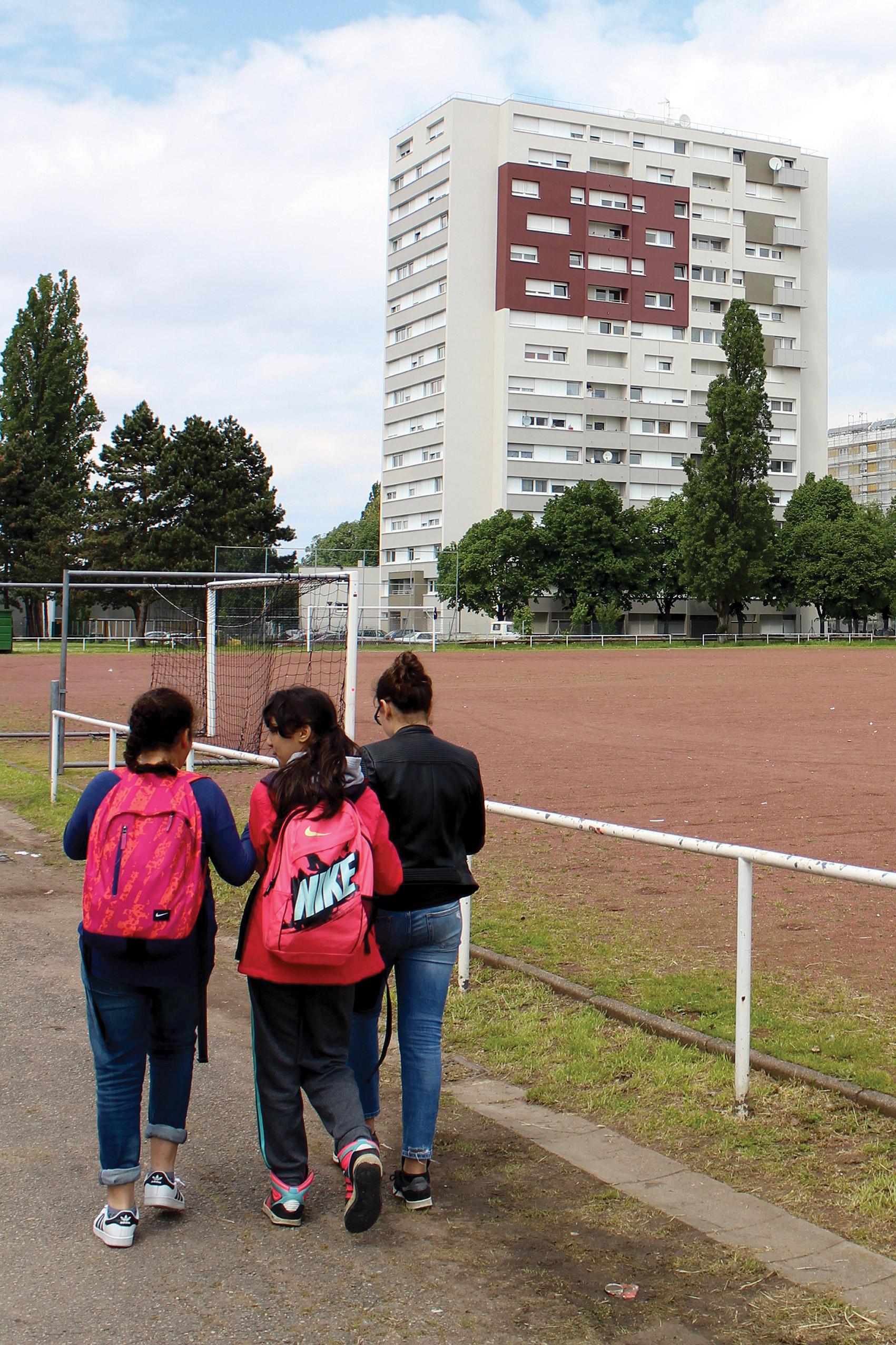 Chantier  Dans ma ville il y a... Espaces et individus  mené par  Jérémy Bellot et Hervé Munch  / mai - juin 16