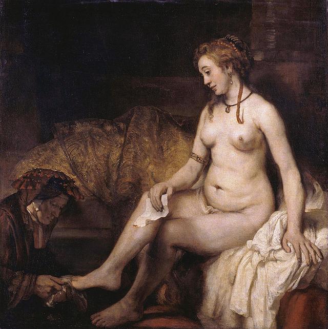 Rembrandt,  Bethsabée au bain tenant la lettre de David  (1654)