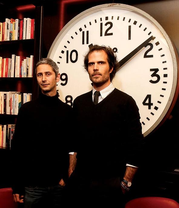 Aurélien Blanchard & Benoit Laureau — photo Olivier Dion (source  LivresHebdo )