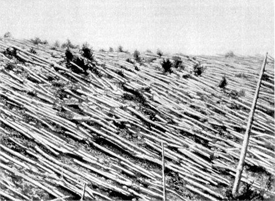 Tunguska event 1908.