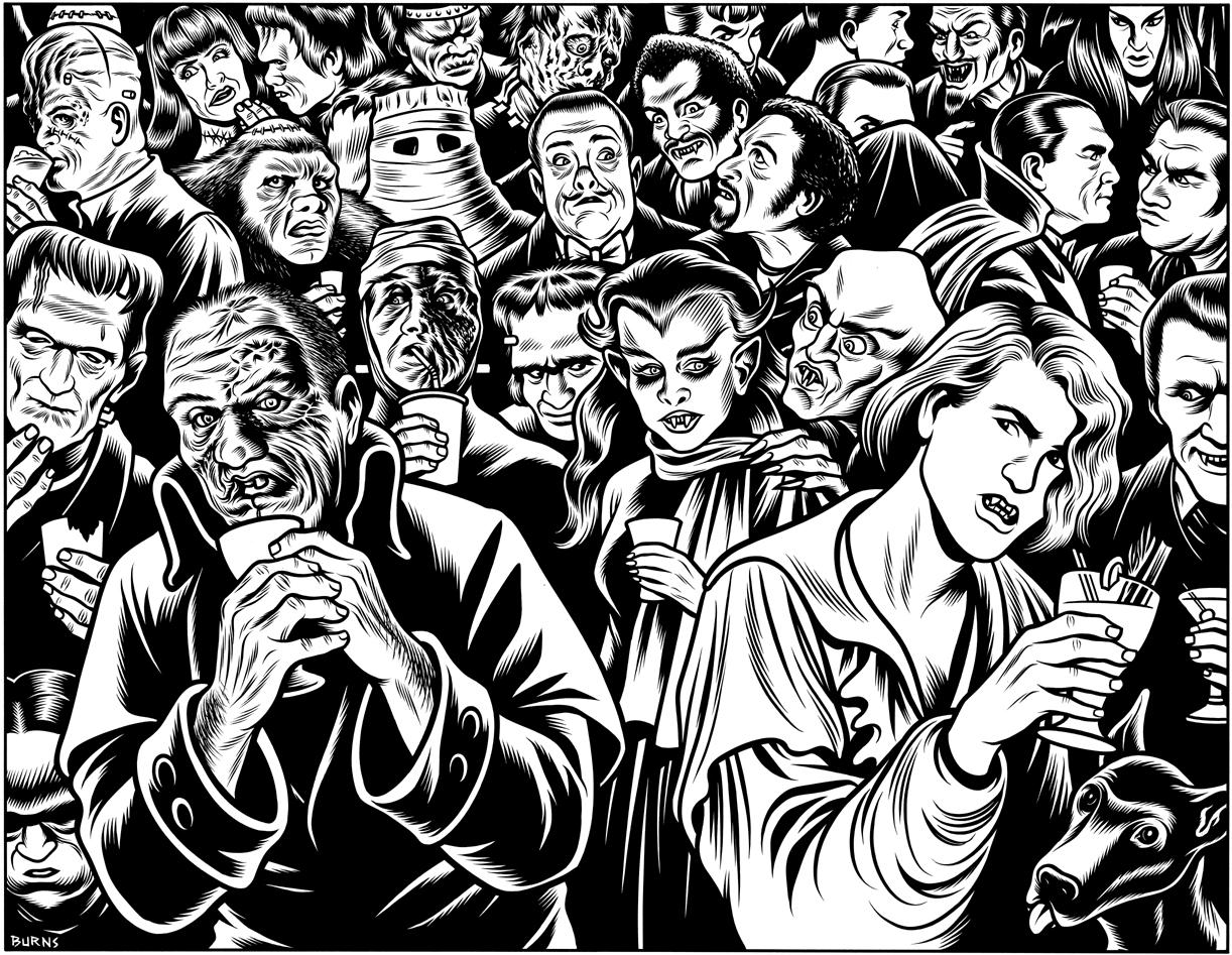 Charles Burns,  Frankenstein & Dracula  (1994)