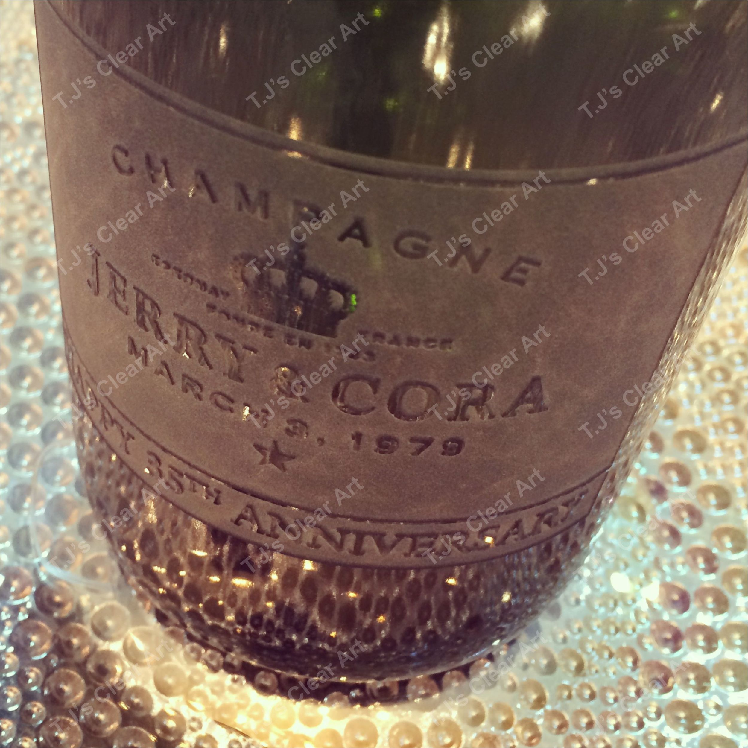 Personalized Champagne Bottle