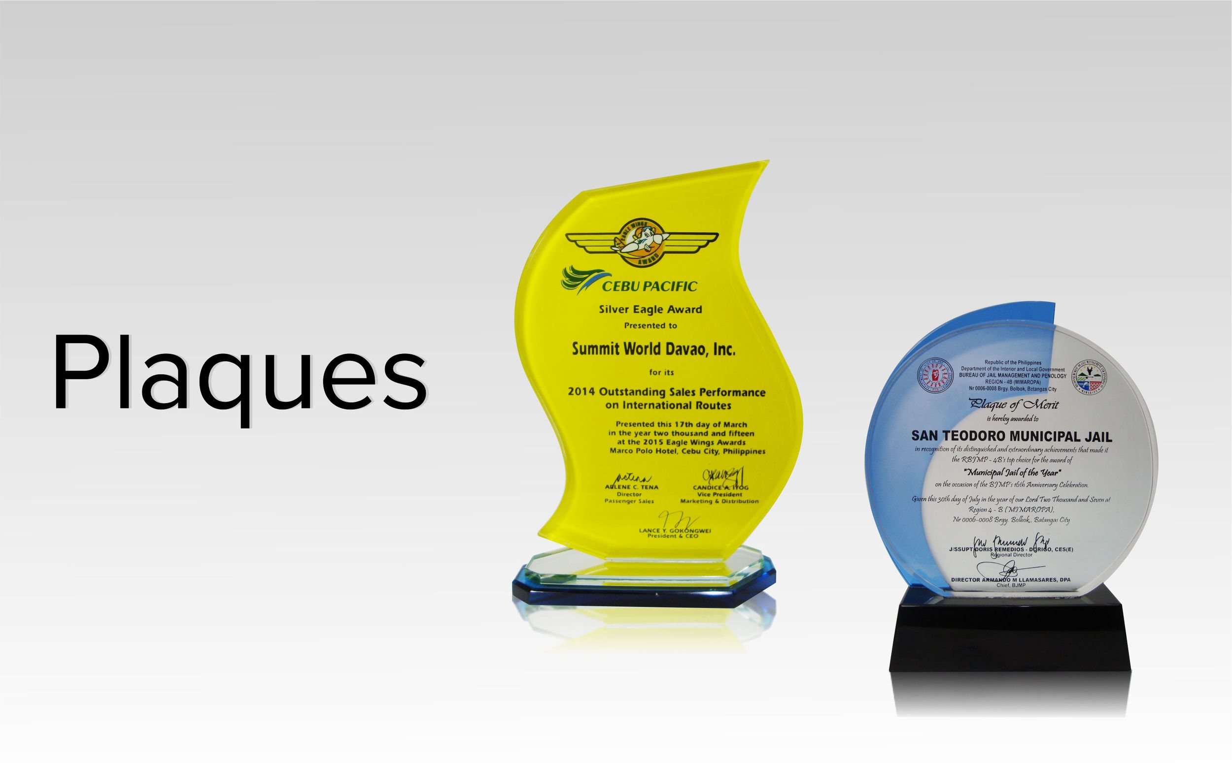 Plaque Supplier