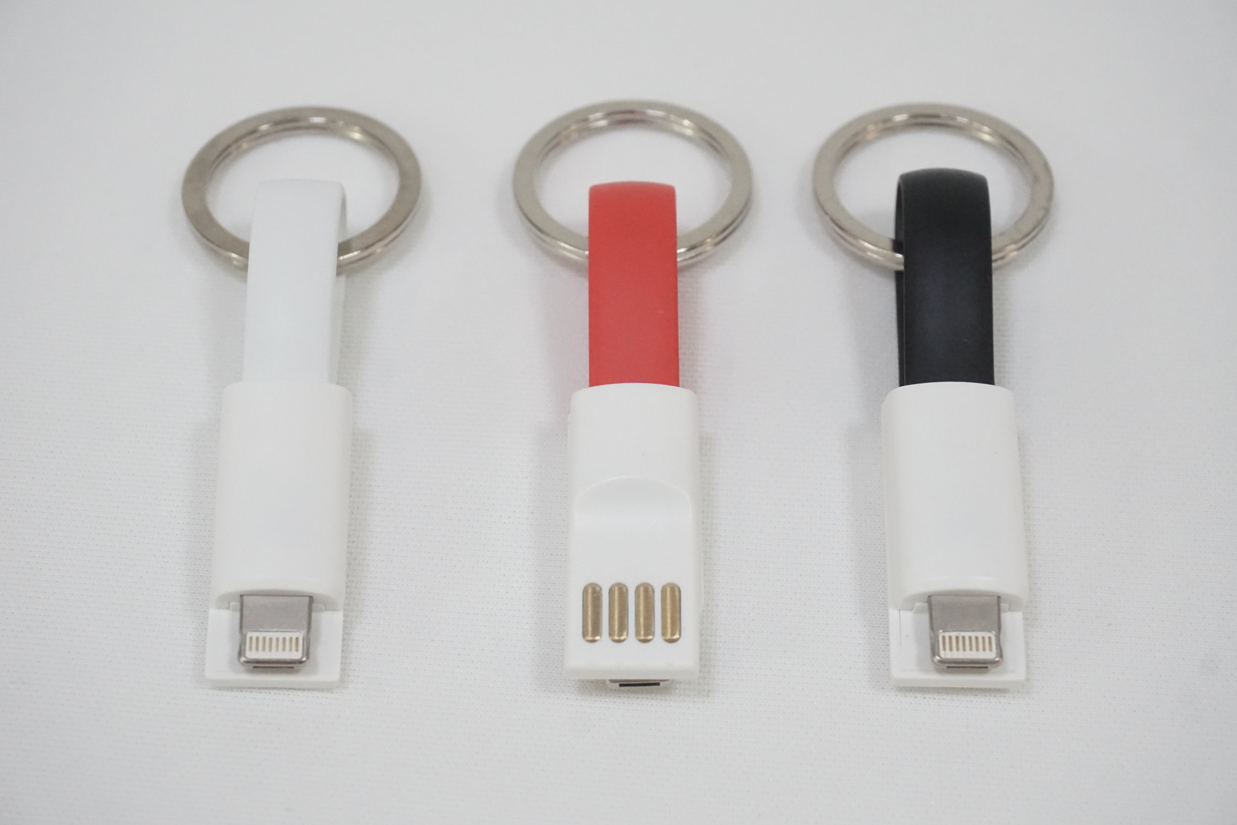 Personalized Lighting Micro USB  Data Cable with Keychain