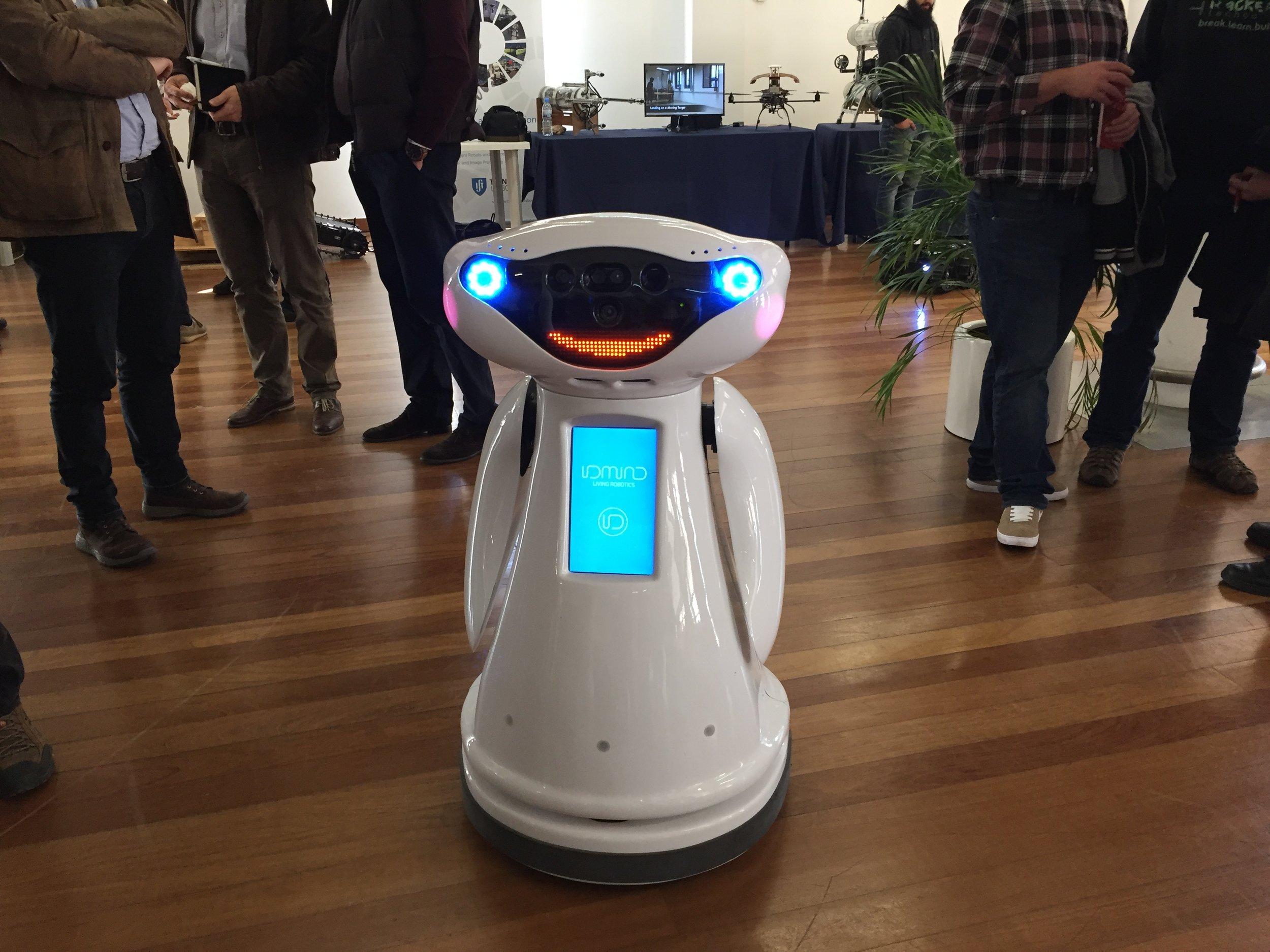 Robôs interagiram com os participantes