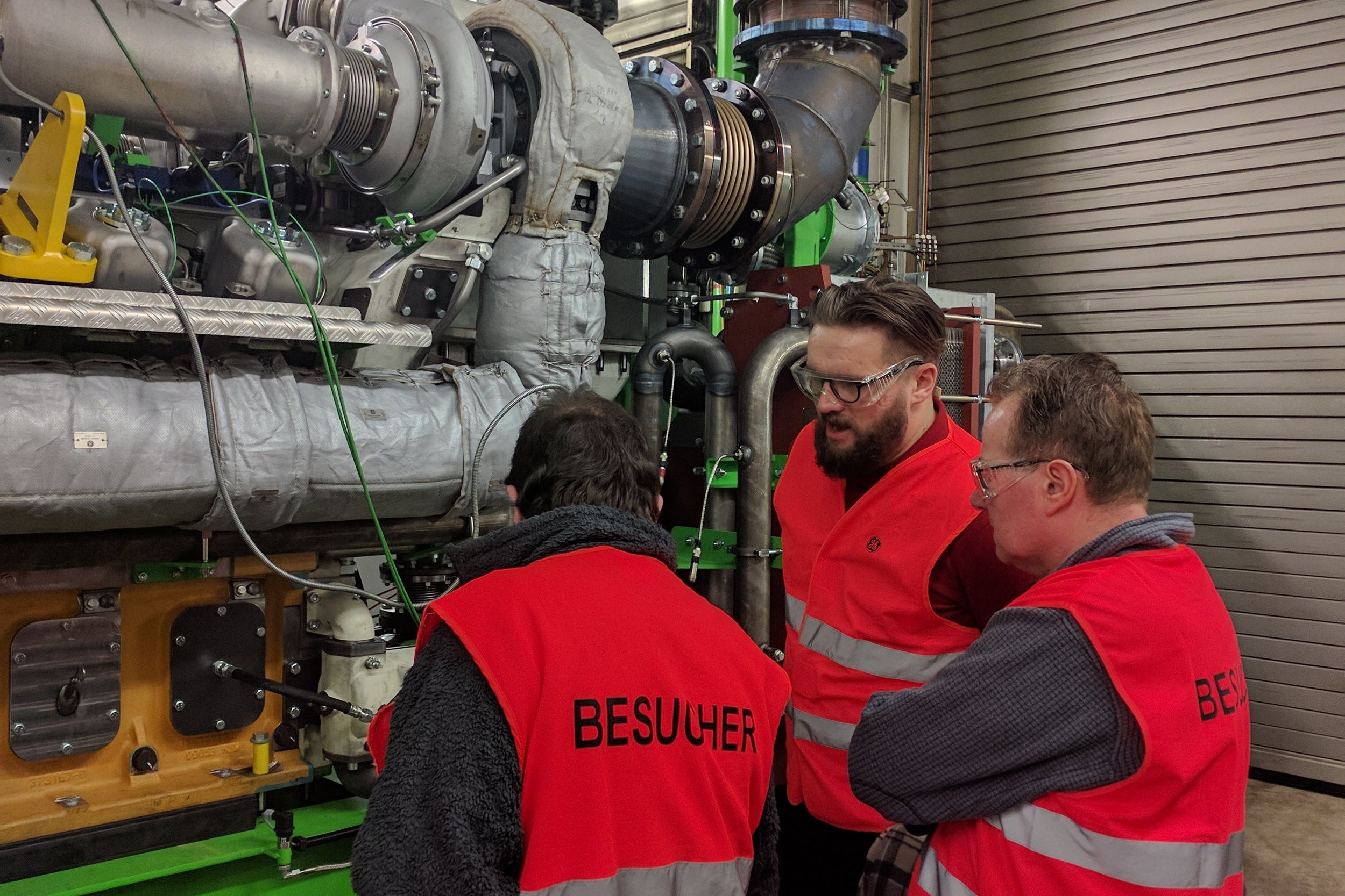 Plastic Omnium attend the CHP Engine test