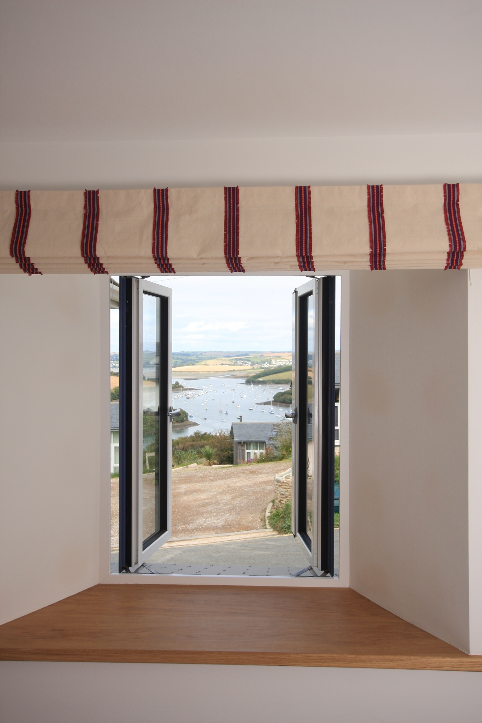 View to the estuary from twin bedroom