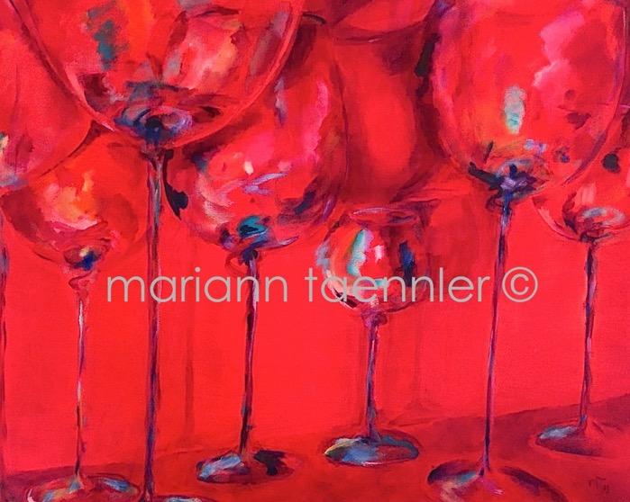 glass serenade - oil on canvas 100x80x4 cm auf WAF-Keilrahmen