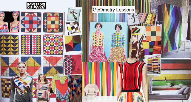 'Geometry' trend board compiled by SistersGulassa