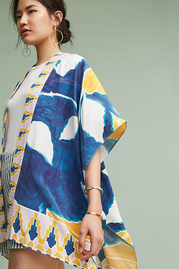 Sunlight Silk Kimono for Anthropologie