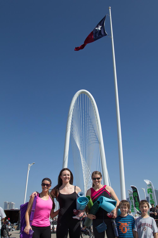Yoga on the bridge — Dallas, TX | 3Tree Yoga