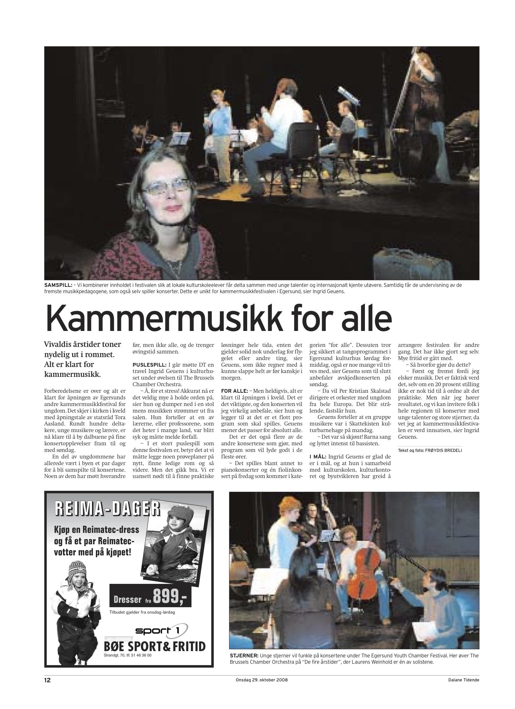 Dalane Tidende - 29. October 2008