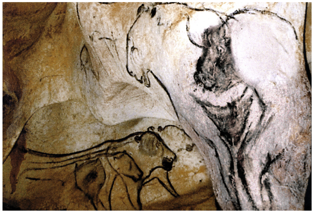 "Figure 1. ""The Venus and the Sorcerer"" from Chauvet Cave ca. 34,000 BCE proposed to represent the  Summer Triangle ,  Collins (2014 )."
