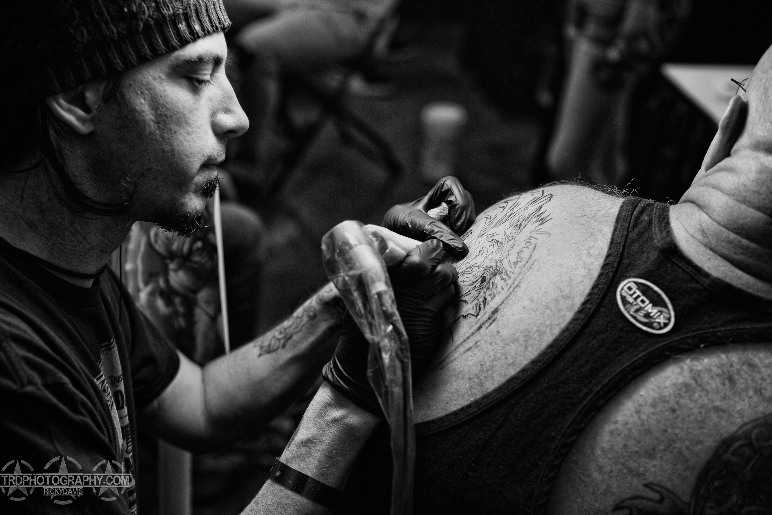 Tattoo Artist Lynn Buckner of Main Line Ink - TRD Photography