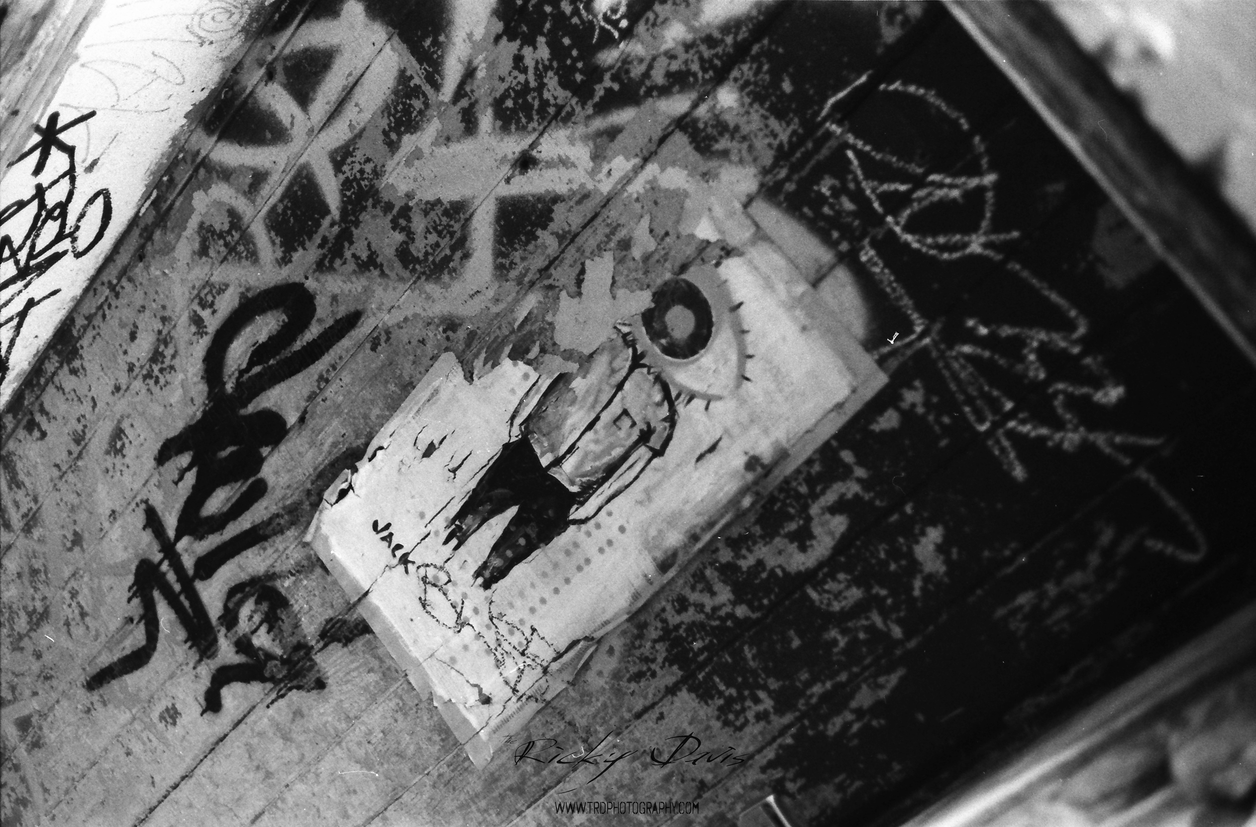 It's all about the eye. Street Art - Chattanooga, TN - Film - Expired Neopan SS - Camera - Minolta XG 1 - Photographer Ricky Davis