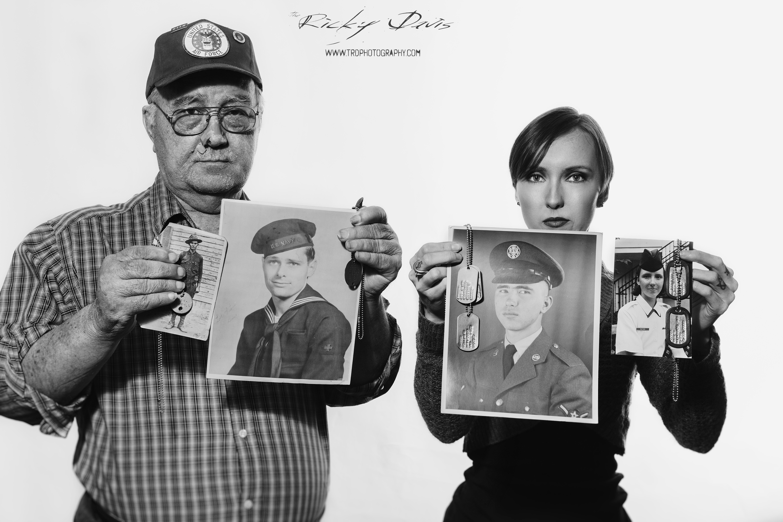 Four Generations of American Heroes who served in WWI, WWII, Vietnam, and Iraq. Photo - Ricky Davis of TRD Photography - Canon 6D