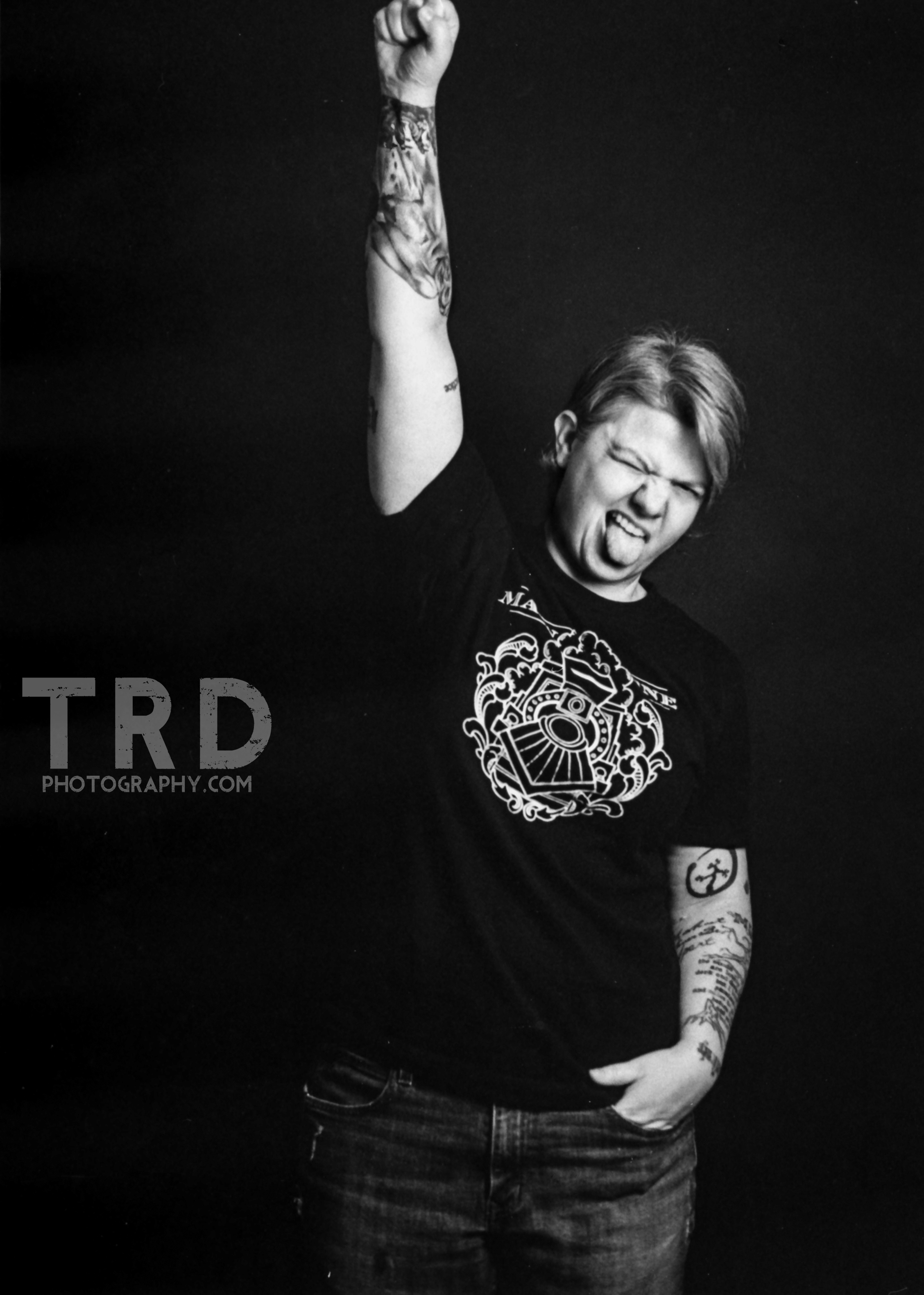 Minolta XG 1 - Kodak Tri X - Tattoo Artist - Jennifer Edge - Main Line Ink - TRD Photography