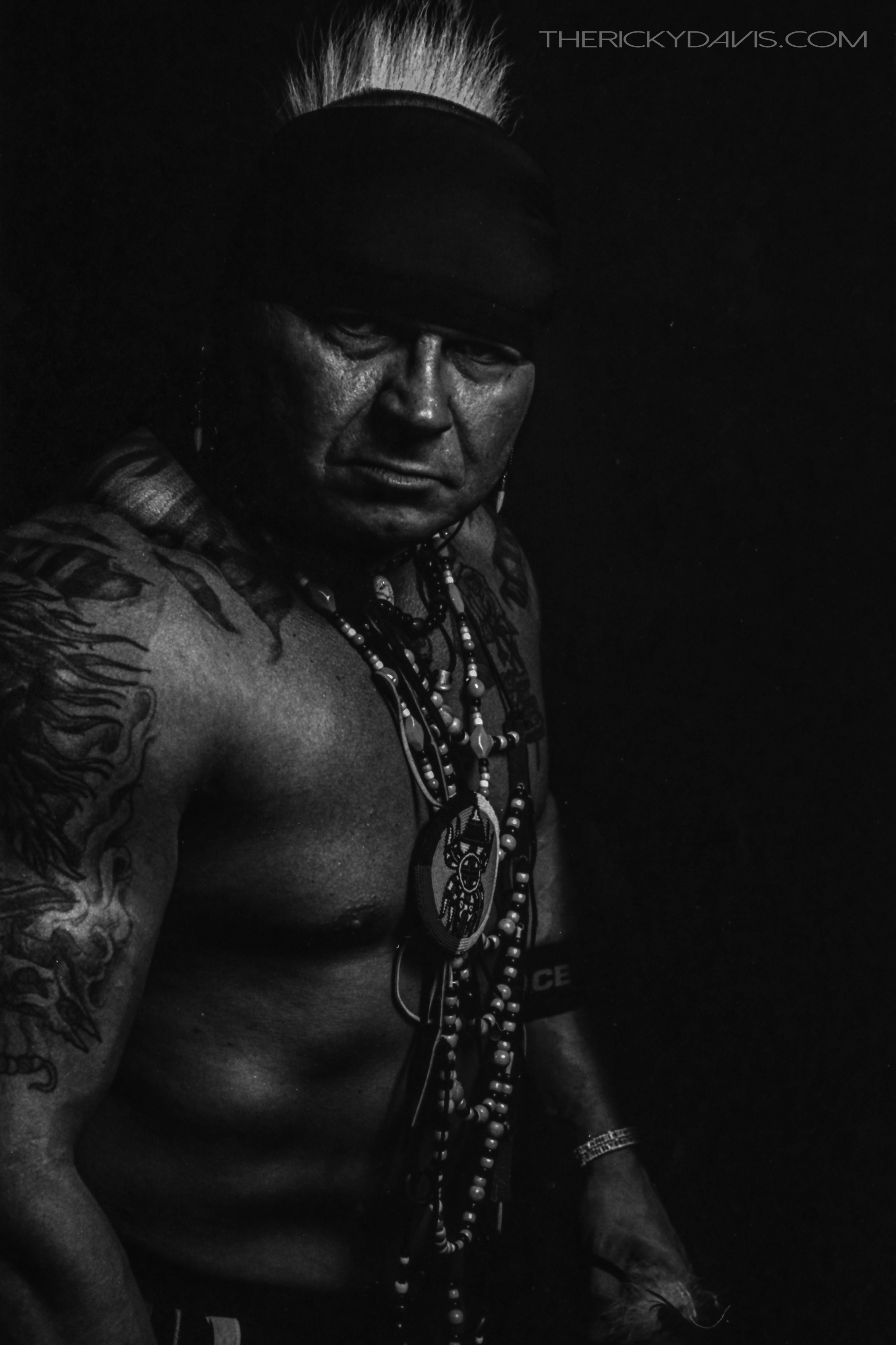 Native American Portraits - The Series - Wes Collins - Photographer - Ricky Davis