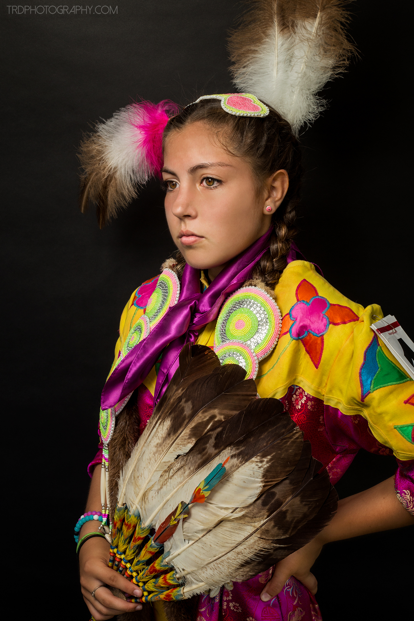 Native American Portrait Series - Aspen Yahola - TRD Photography