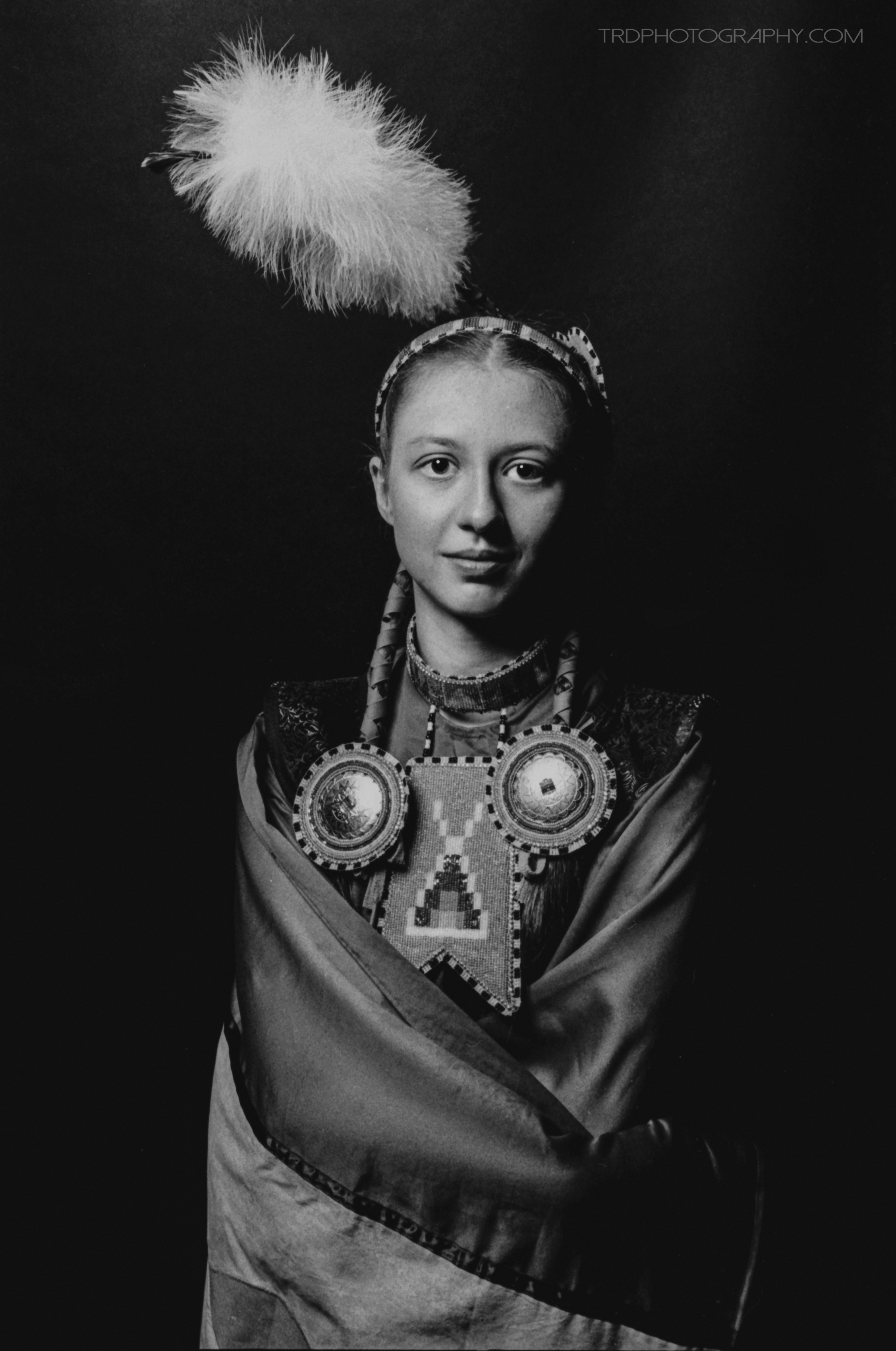 Teah - Native American Portrait Series - Kodak Tri X - TRD Photography