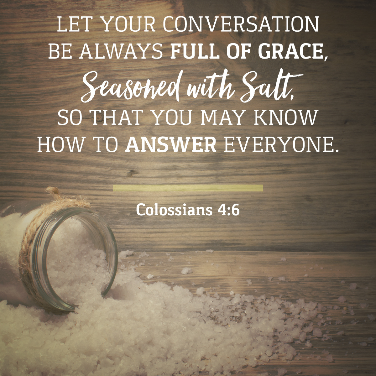 Image result for colossians 4:6""