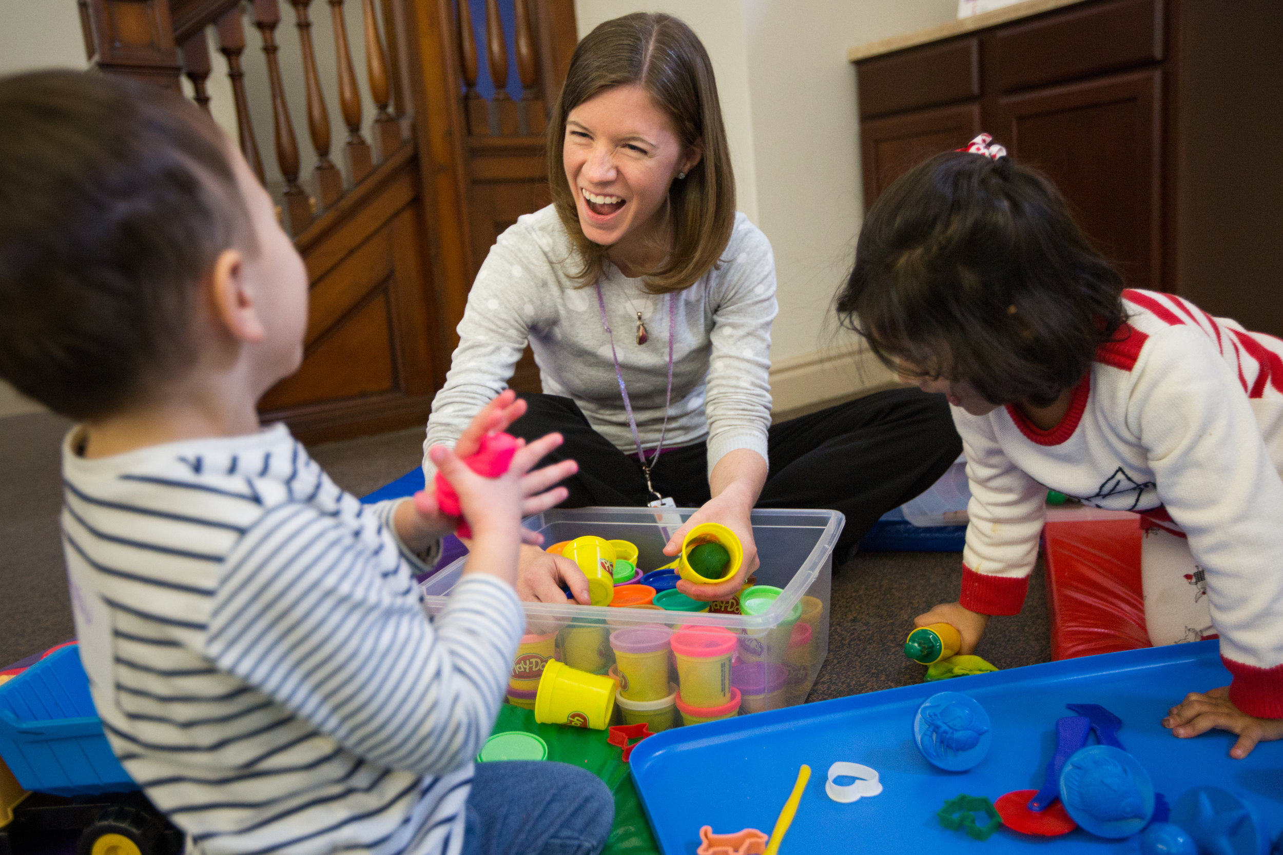Child development experts share information and play with families at CLP – Lawrenceville's Family PlayShop