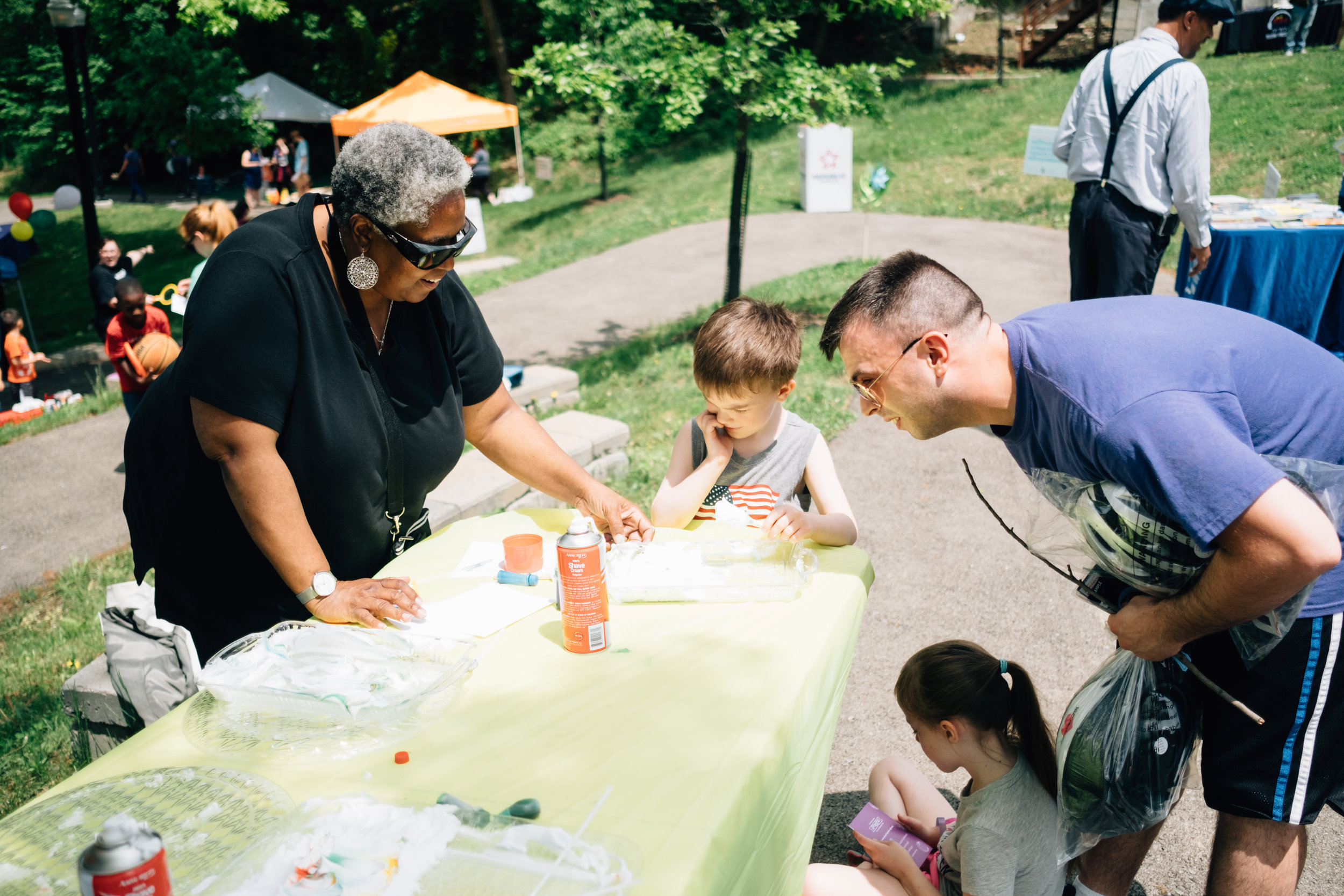 Shaving cream painting with Ujamaa Collective