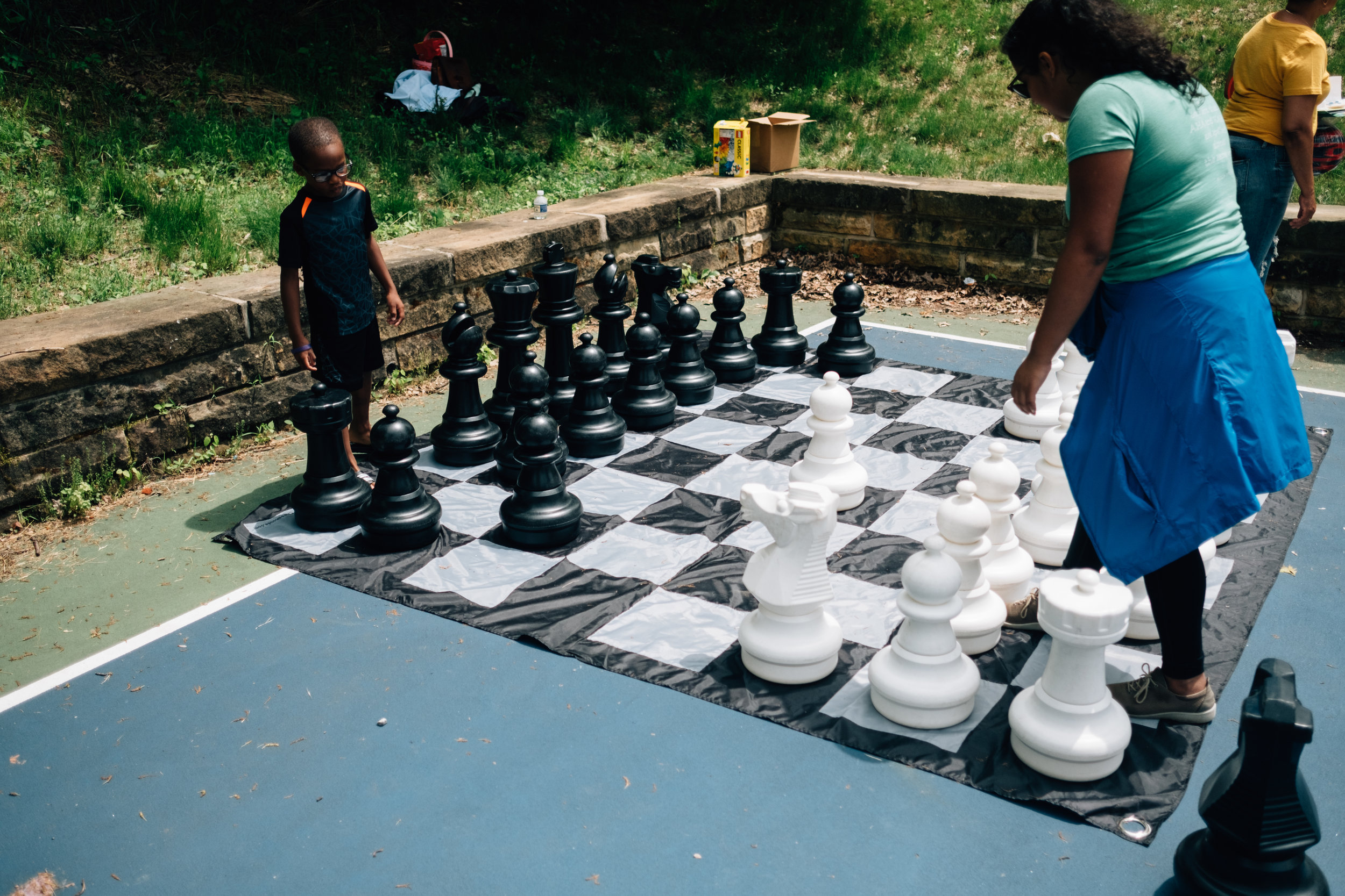 Giant games with the Pittsburgh Downtown Partnership