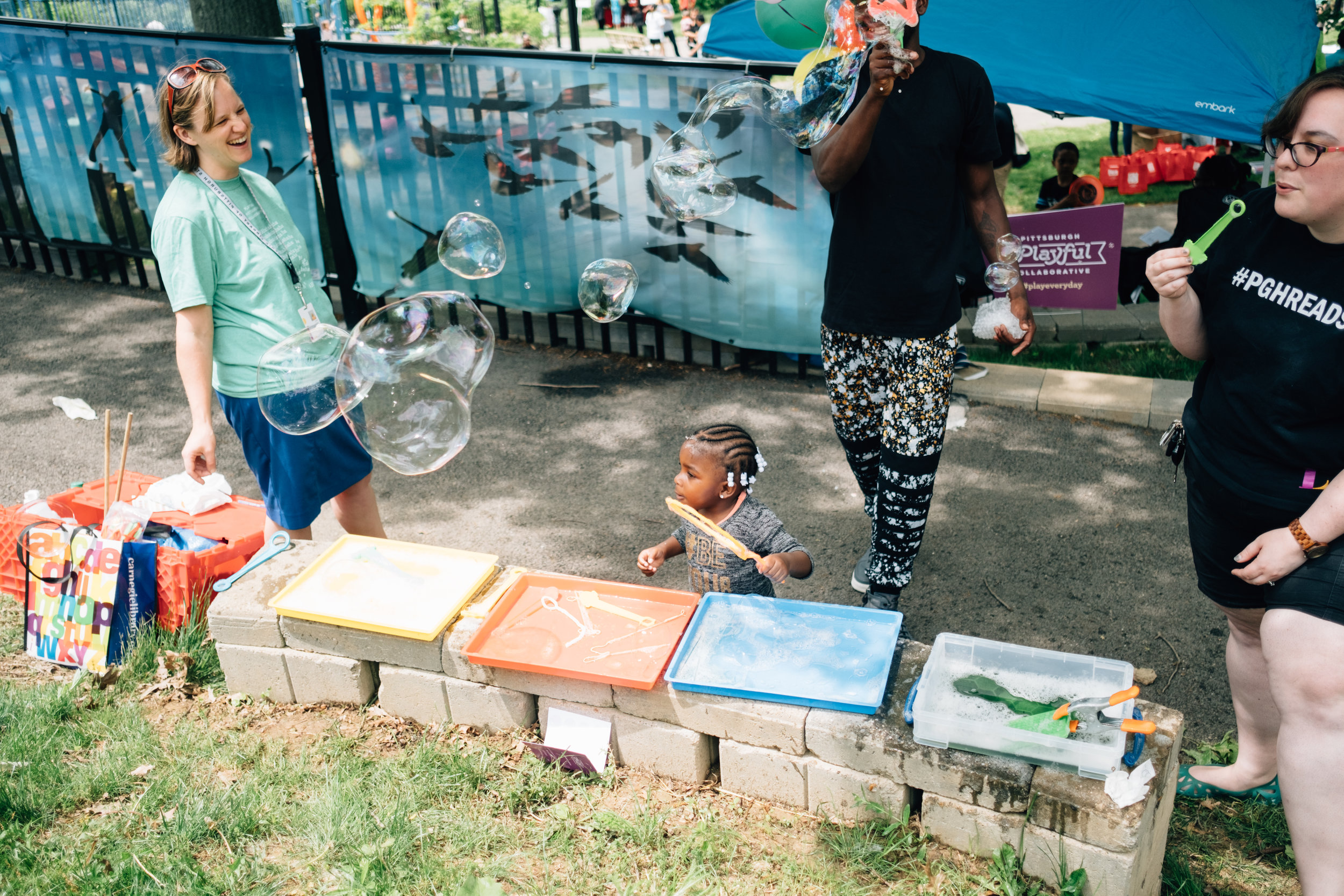 Bubbles with the Carnegie Library of Pittsburgh