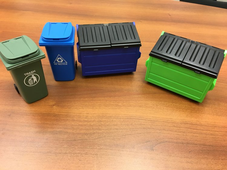 Mini Trash Receptacles