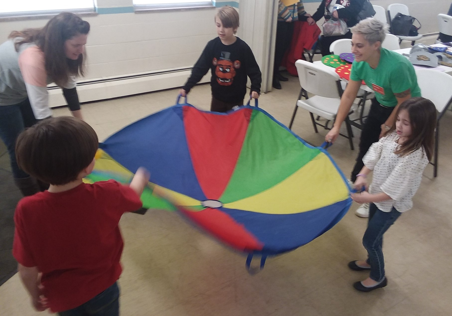 Parachute in use
