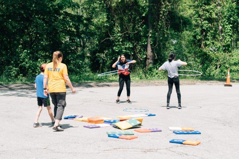 Dominos and hula-hoops with the Playful Pittsburgh Collaborative