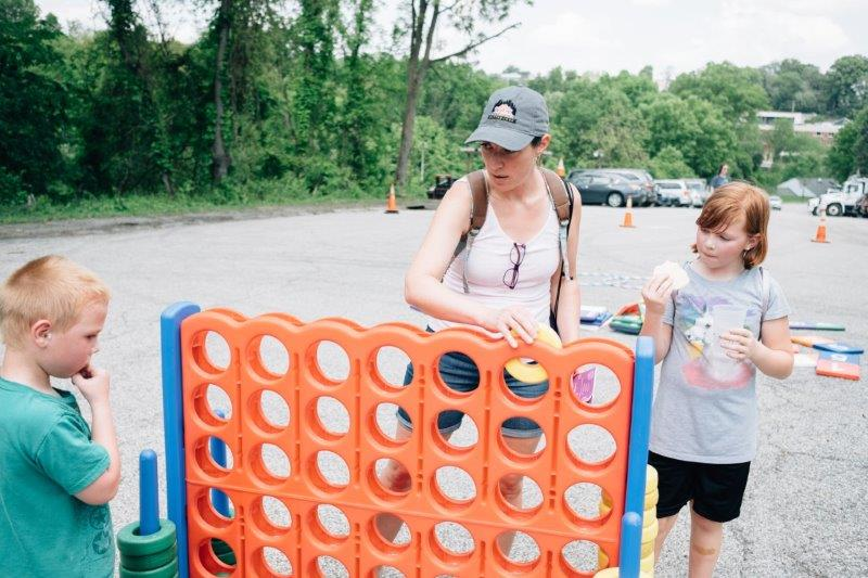 Giant Connect 4 with the Playful Pittsburgh Collaborative