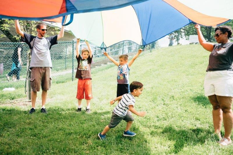 Parachute fun with COTRAIC Greater Hazelwood Family Center