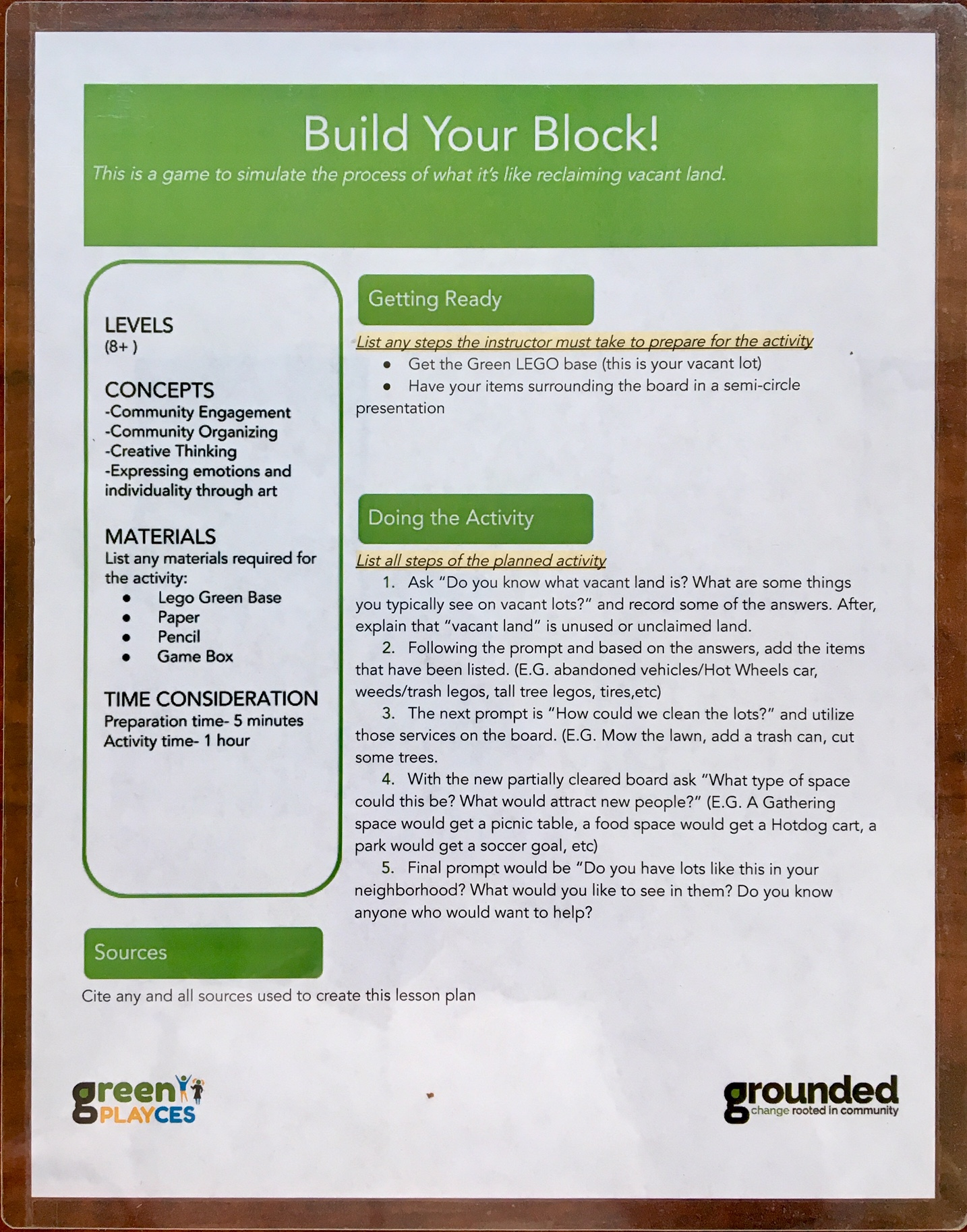 Grounded - Play Box Instructions