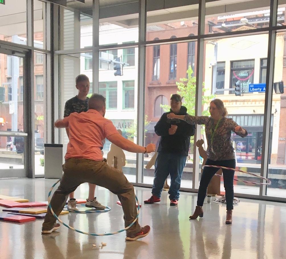 Hula hooping fun for all!