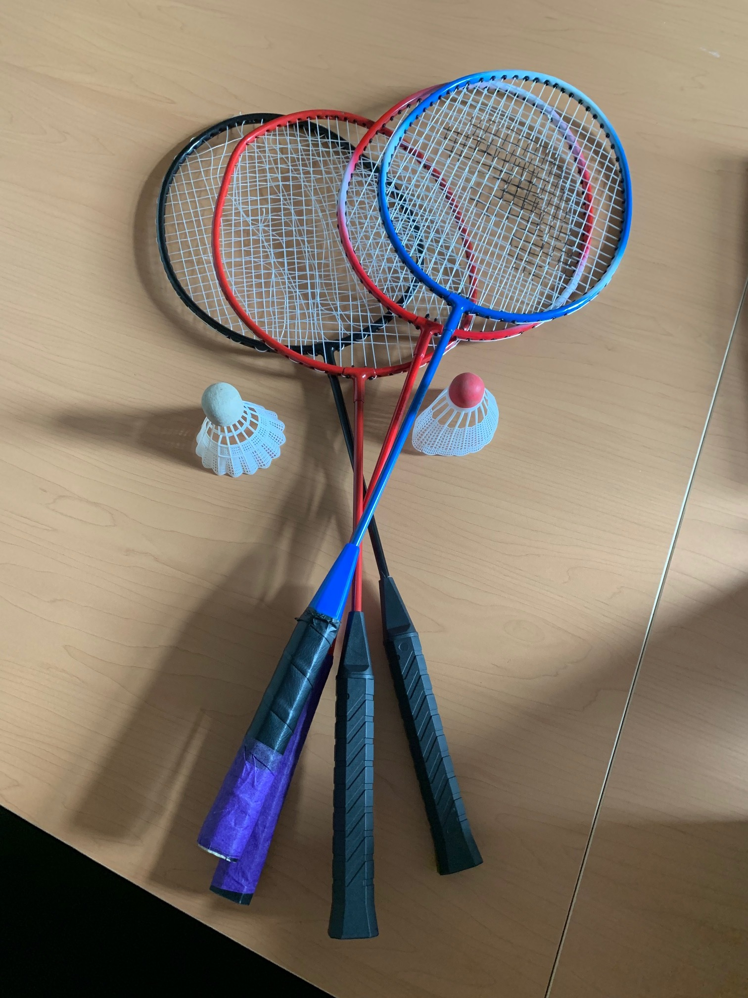 Badminton Rackets and Birdies