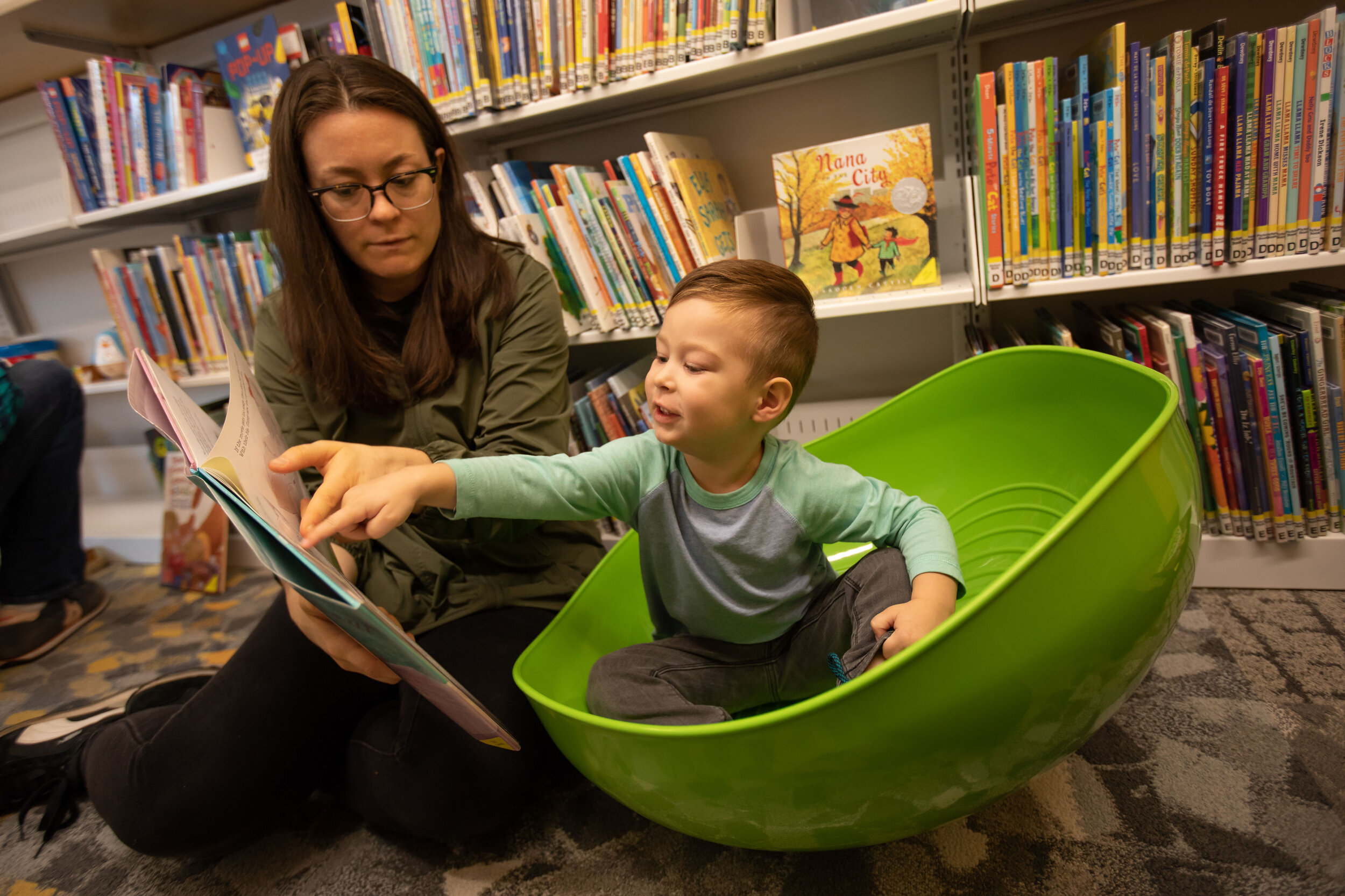 The Weplay Rocking Bowl makes sharing a book a playful sensory adventure!